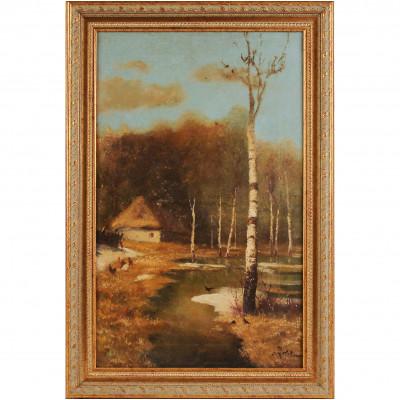 "Painting ""Spring landscape"""