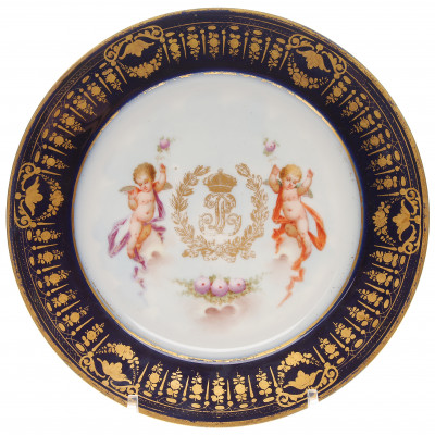 Porcelain plate from the service of the Emper...