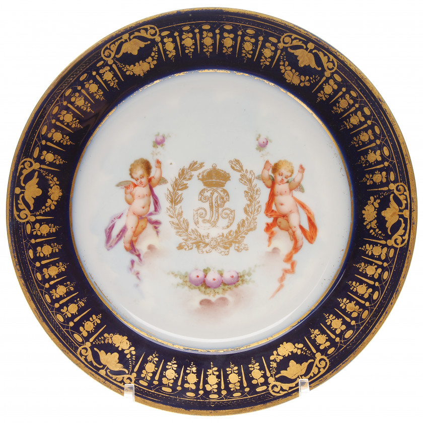 Porcelain plate from the service of the Emperor Louis Philippe