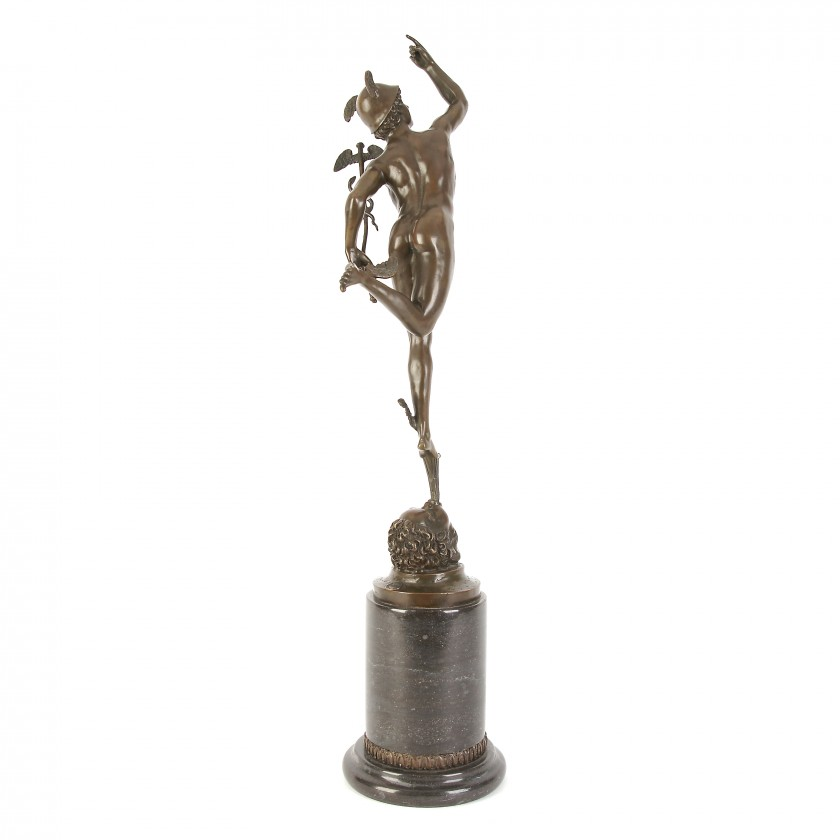 """Bronze figure """"Hermes"""""""