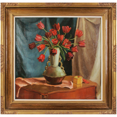 "Painting ""Still life with tulips"""