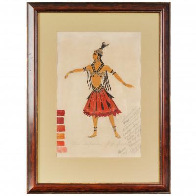 Costume design for Polovtsian girl for the op...