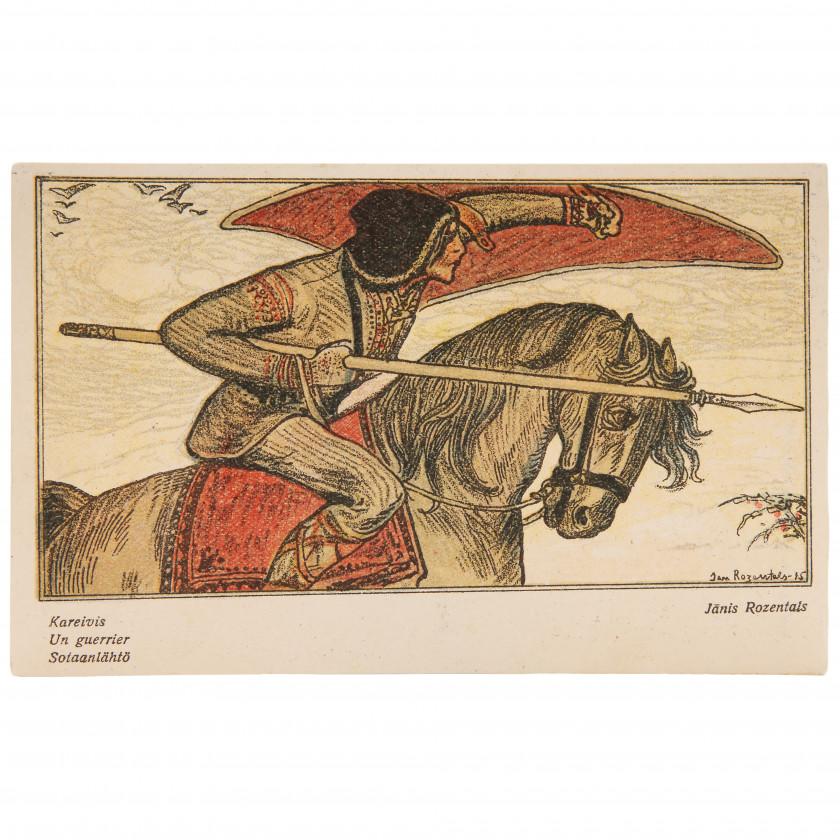 "Postcard ""J. Rozentāls - Soldier"""