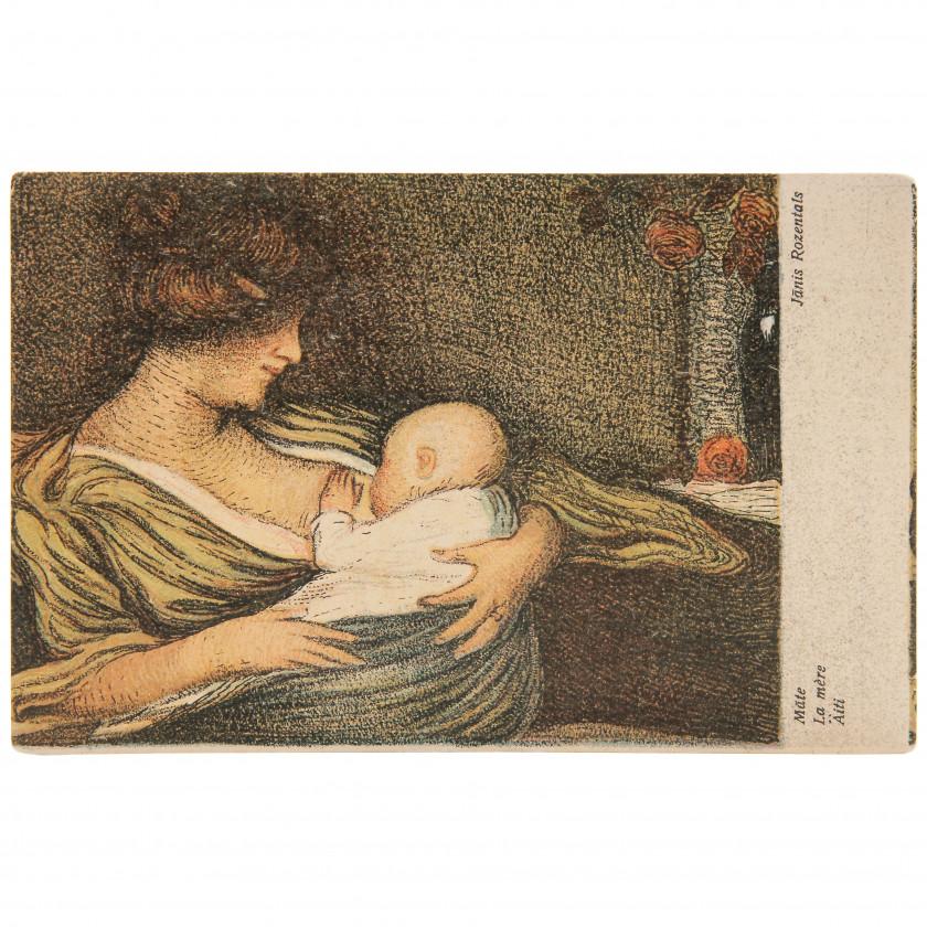 "Postcard ""J. Rozentāls - Mother"""