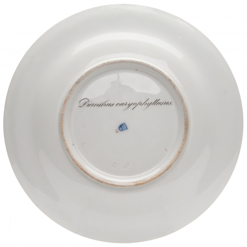 "Porcelain decorative plate ""Garden Carnation"""