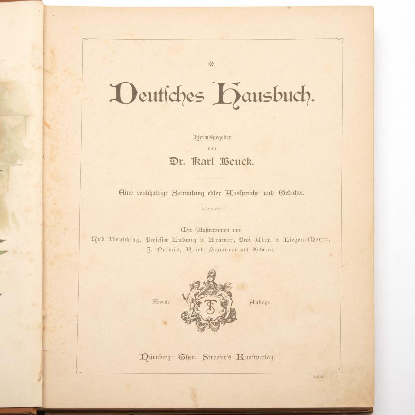"""Книга """"Deutsches Hausbuch. Eine reichhaltige Sammlung edler Aussprüche und Gedichte"""""""