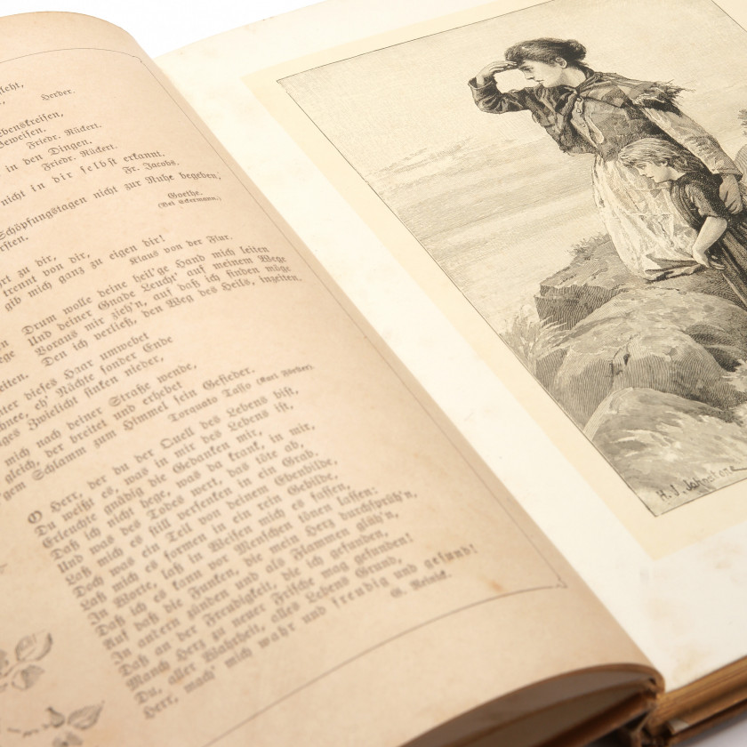 """Grāmata """"Deutsches Hausbuch. Eine reichhaltige Sammlung edler Aussprüche und Gedichte"""""""