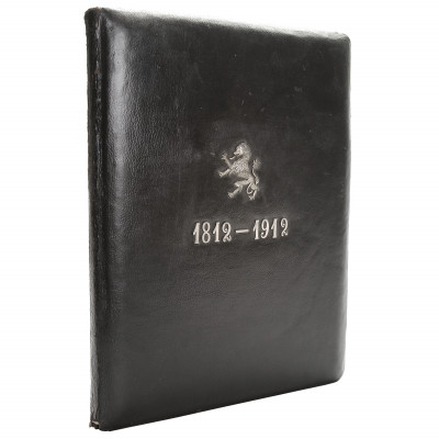 Leather folder with an anniversary date 1812...