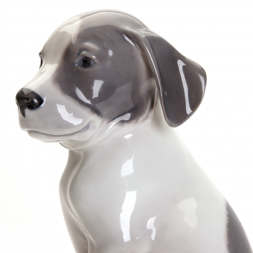 "Porcelain figure ""Pointer puppy"""
