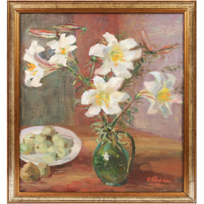 """Painting """"Still life with lilies"""""""